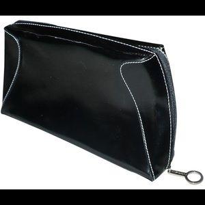 MAC x Matt Murphy faux patent leather cosmetic bag